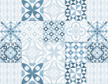 Azulejos contemporains bleu