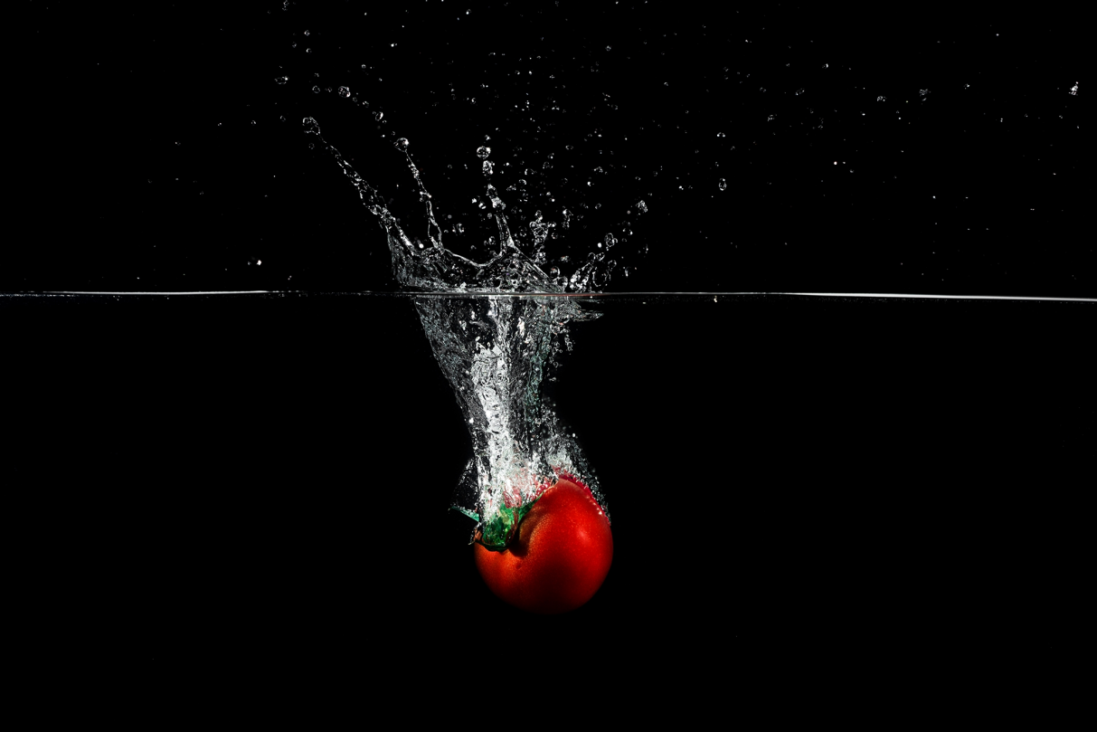 Splash et tomate